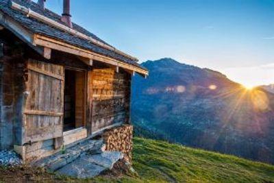 Schweizer Alphütten