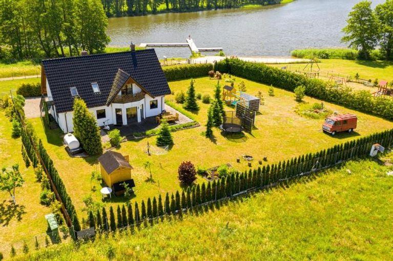 Polen Ostsee Seeblick Ferienhaus Am See Wolin Kolczewo