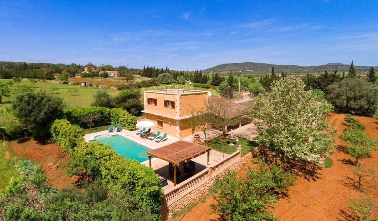 Country House Near Manacor With Nice Garden With Orange And Lemon